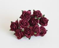Розы 2 см - ягодные  1 шт - 14 руб  диаметр розы 2 см высота цветка 1 см длина стебелька 7 см