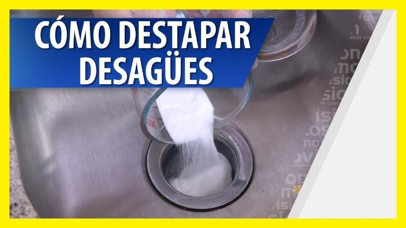 Cómo Destapar una Cañería Obstruida con Bicarbonato y Vinagre Coca Cola