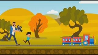 смотрим поезда паровозы электрички видео для детей