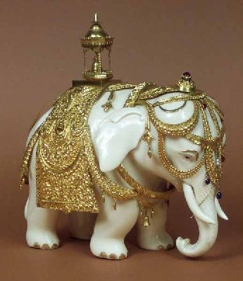 Elephant figurine, India, 19th c.
