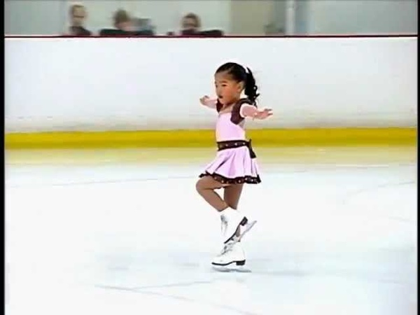 Pre-Alpha routine at the Aliso Viejo Ice Skating Competition - Age 5