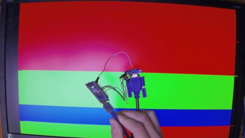 Вывод информации на монитор по VGA