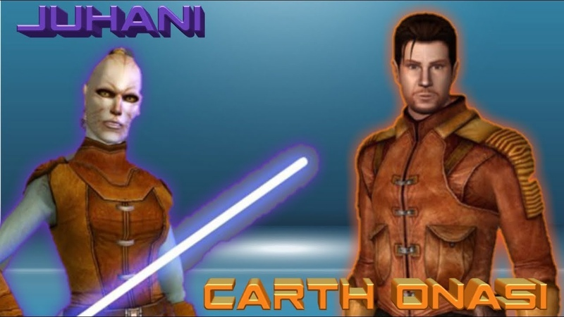 Carth Onasi and Juhani Incoming star wars galaxy of heroes swgoh