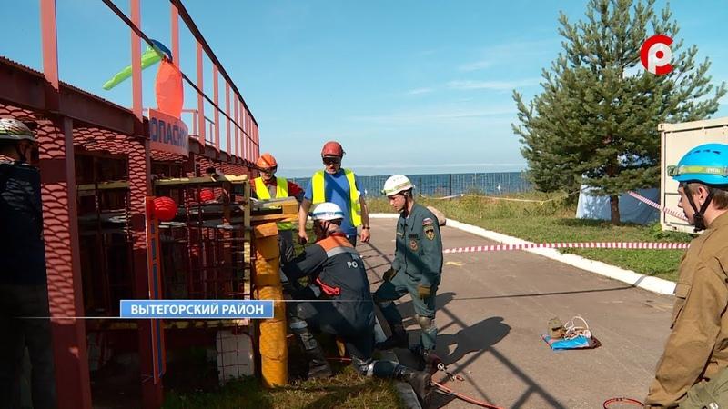 Соревнования МЧС в Вытегорском районе