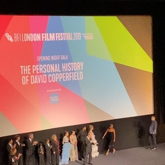 """Bina007 on Instagram: """"Armando Iannucci introduces some of his cast including the stunning Gwendoline Christie Hugh Laurie and Dev Patel…"""""""