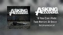 Asking Alexandria If You Can't Ride Two Horses At Once Instrumental Studio Quality