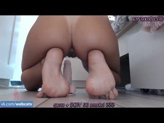 Ezra riding dildo [solo, masturbation, toys, girl, tits, ass, fingering]