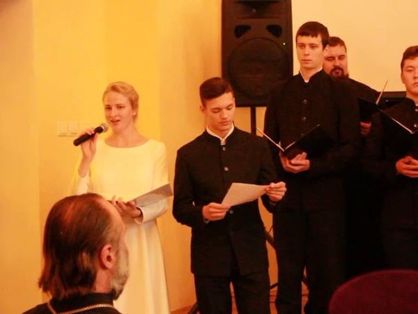 Престольный праздник СамДС - Кириллу и Марии мужской хор