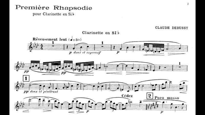 Claude Debussy Première Rhapsodie Corrado Giuffredi clarinet