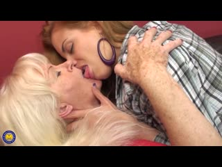 Ashley (19), lennora (61) - horny old and young lesbian couple fooling around