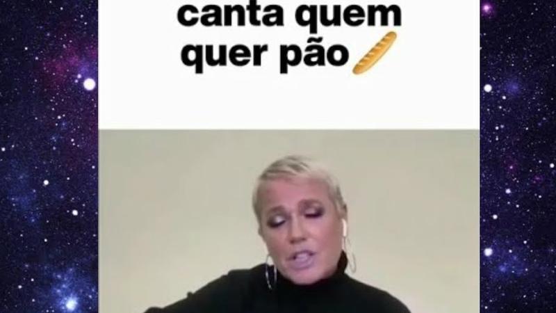 Canta quem quer pão Xuxa no programa do Bial