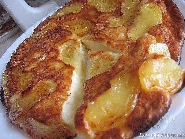 Творожно-яблочное чудо Просто тает во рту... Ингредиенты:2 яблока2 ст.л. слив. масла1 ст.л. сахара (если есть, то коричневый)Для теста:250 г. творога2 яйца3 ст.л. сахаращепотка соли0,5 ст.