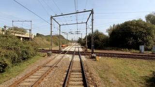 A very rare Dutch railway X-crossing: Utrecht - Baarn CABVIEW HOLLAND SGM 15sep 2020