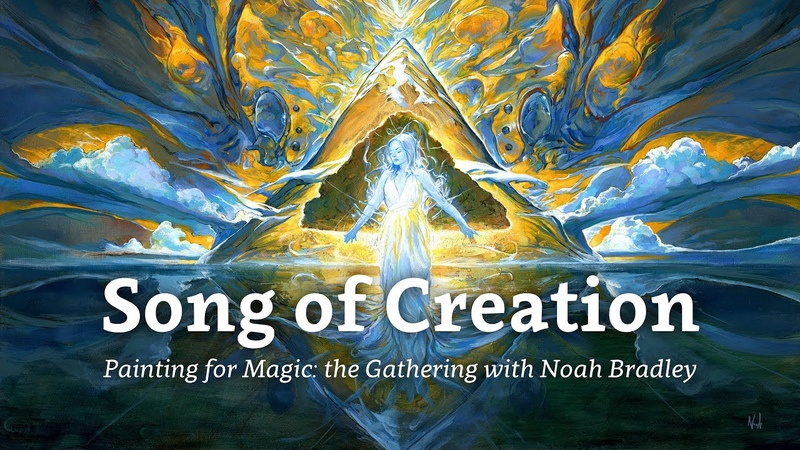 Song of Creation Painting for Magic The Gathering by Noah Bradley