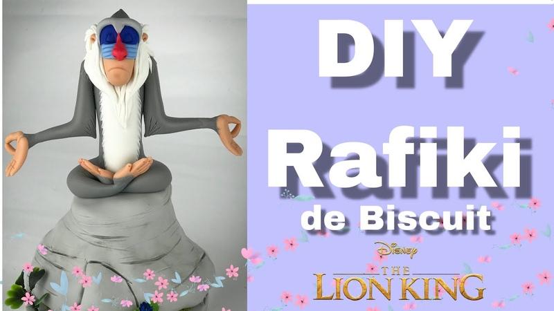 DIY - Rafiki | O Rei Leão | Modelando em Biscuit