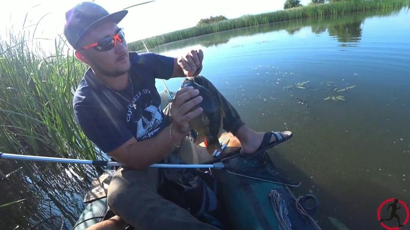 Рыбалка в диких местах, крупный улов.