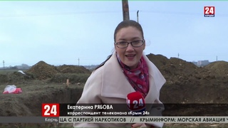 Московские археологи изучают памятники античности, обнаруженные при строительстве в Керчи