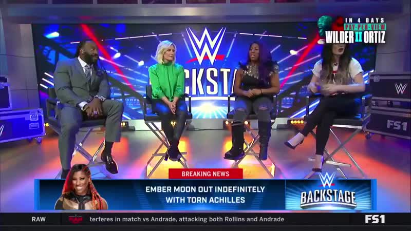 BREAKING - @WWEEmberMoon updates the @WWEUniverse as to why shes been out of the ring recently. WWEBackstage