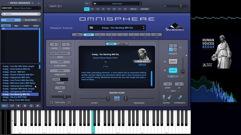 Omnisphere soundset - Human Voices Redux. Complete walkthrough