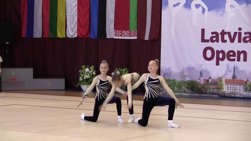 Екатерина Шишина Ариана Стирбис Виктория Шемонаева на Latvian Aerobic Open Cup 2019 в г Рига