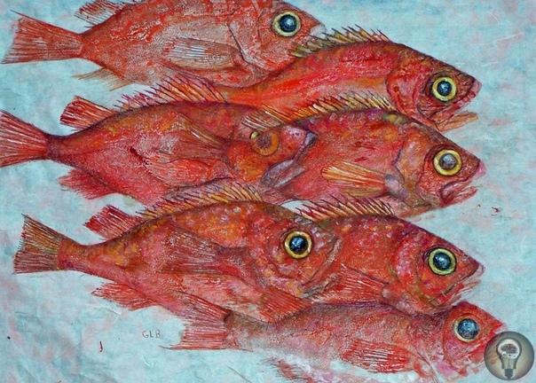 Рисование рыбами