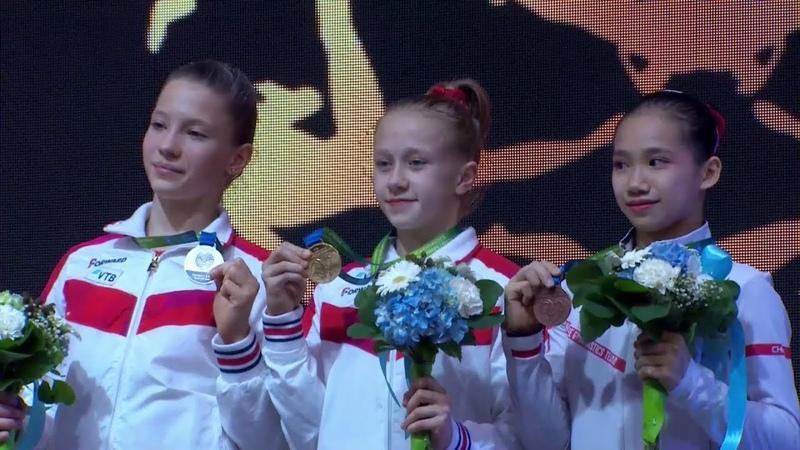 2019 Gyor Women's Junior All Around Victory Ceremony