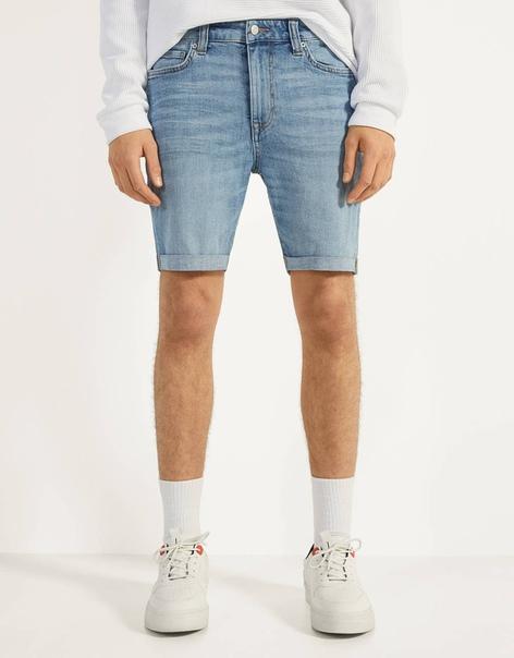 Джинсовые шорты суперскинни