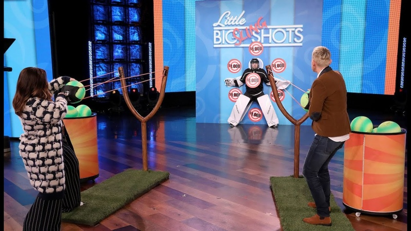 Melissa McCarthy and Ellen Take Aim at Average Andy in Little Big Slingshots