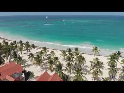 Пляж вид с ДРОНА Tropical Princess Caribe Club 2019