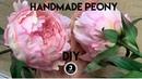 DIY Peony 3 Sepals and stalk МК пион из фоамирана Чашелистик листья и стебель