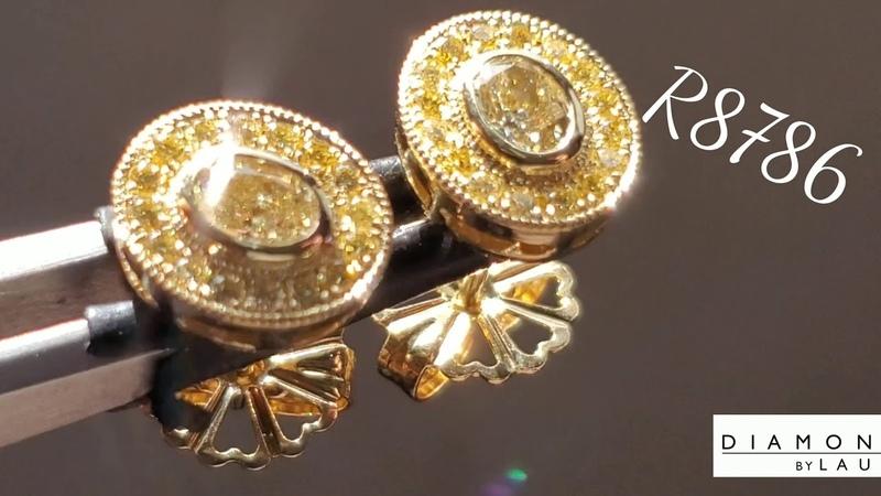 65ct Tw Canary Diamond Earrings R8786