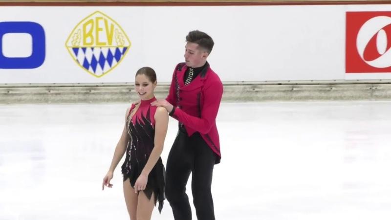 Anastasiia MISHINA Alexsandr GALLIAMOV RUS Free Skate 2020 Bavarian Open
