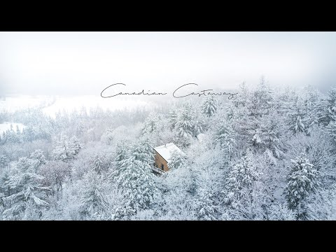 3 years in the Making Off-grid Cabin by Canadian Castaway