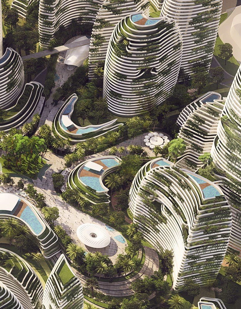LAVA proposes undulating forest city organized around a rainforested valley in malaysia