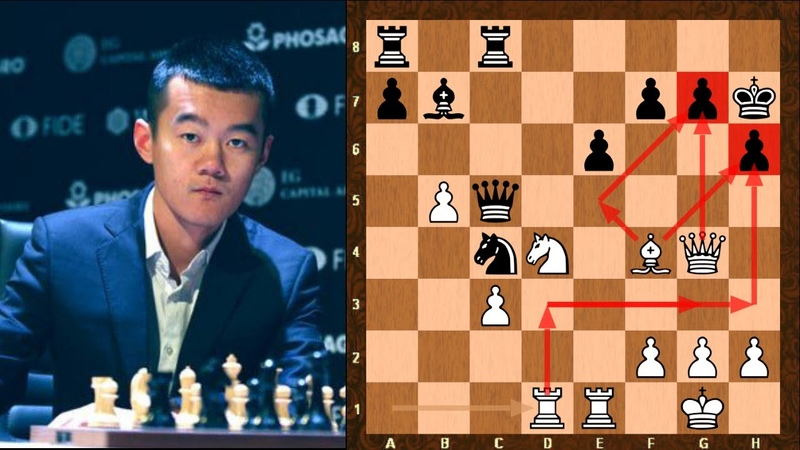What a beautiful finish Ding Liren vs Magnus Carlsen GCT St Louis Rapid Blitz Chess 2019