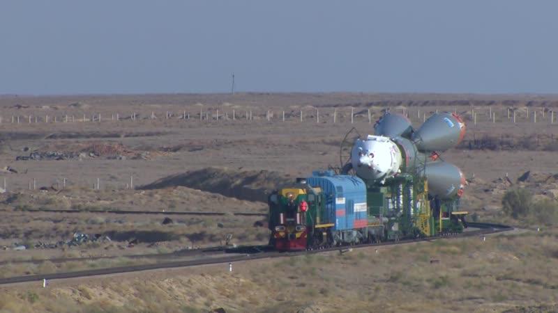 Последнюю в истории ракету с пилотируемым кораблём Союз МС-15 установили для пуска