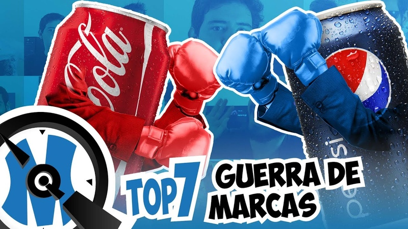 Top 7 Guerras de Marcas   Coca Cola vs Pepsi   QminutosQ S02E11