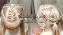 КРАСИВЫЕ ПРИЧЕСКИ Два низких хвоста декорированные косами ВИДЕОУРОКИ