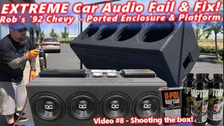 Extreme Car Audio FAIL & Fix Bucket o' BASS Chevy 4 12 Subs Ported Box & Platform DONE! Video 8