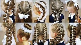 10 красивых причёсок для девочки