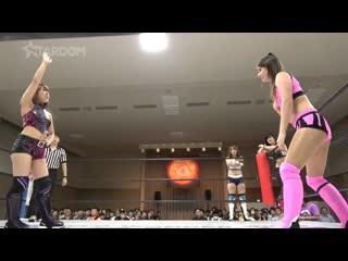 Bobbi tyler, hana kimura & zoe lucas vs. queen's quest (azm, bea priestley & momo watanabe)