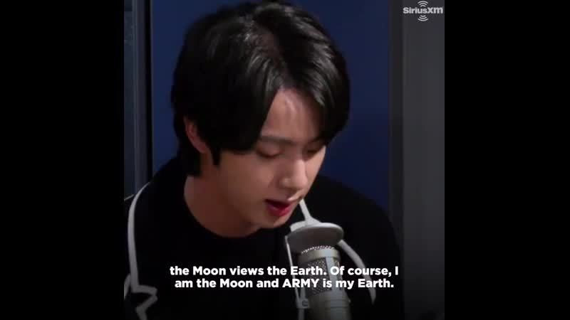 He talked about how he's the moon and army are the earth to him and how this song is so bright cuz it holds so much love