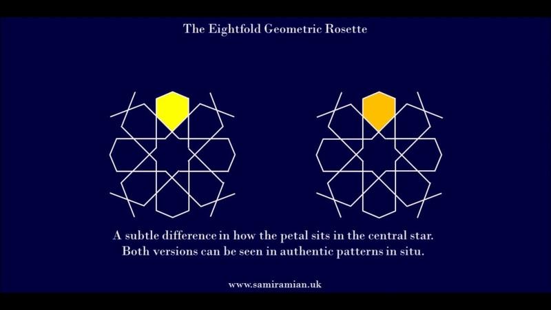 29 Eightfold Geometric Rosette Two Methods Islamic Geometry زخارف اسلامية هندسية