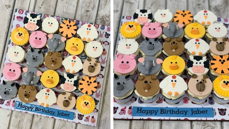 Wild Animals Farm Animals Cupcakes