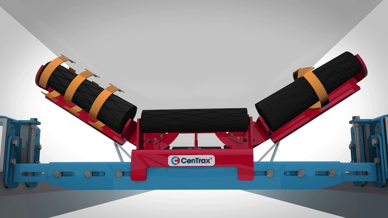 CenTrax Conveyor Belt Tracking System Animation