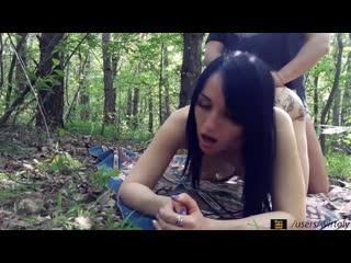 Олеся в лесу[teen,webcam,solo,masturbate,anal,assfuck,на камеру,чулки,young,18,teen,sex,ass,russian,home,sexwife,wife,жена,анал]