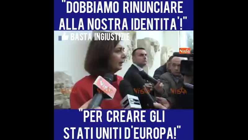 Boldrini vuole gli stai uniti d europa