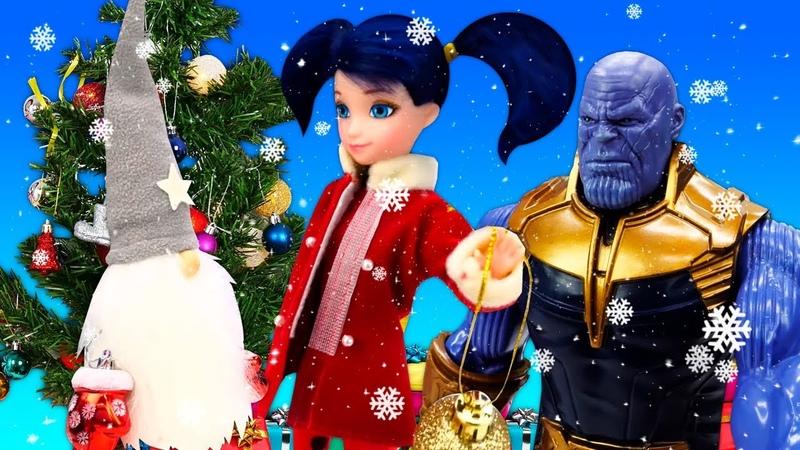 Видео про куклы Маринетт в гостях у Деда Мороза Волшебство в Новый Год