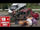 Terrible Russian Car Crash Accidents Brutal Footage