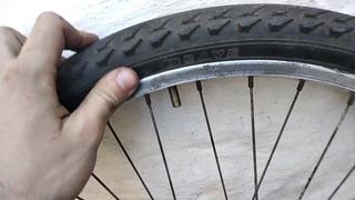 ЛАЙФХАК. Как быстро разбортировать колесо велосипеда без инструментов. СВОИМИ РУКАМИ.